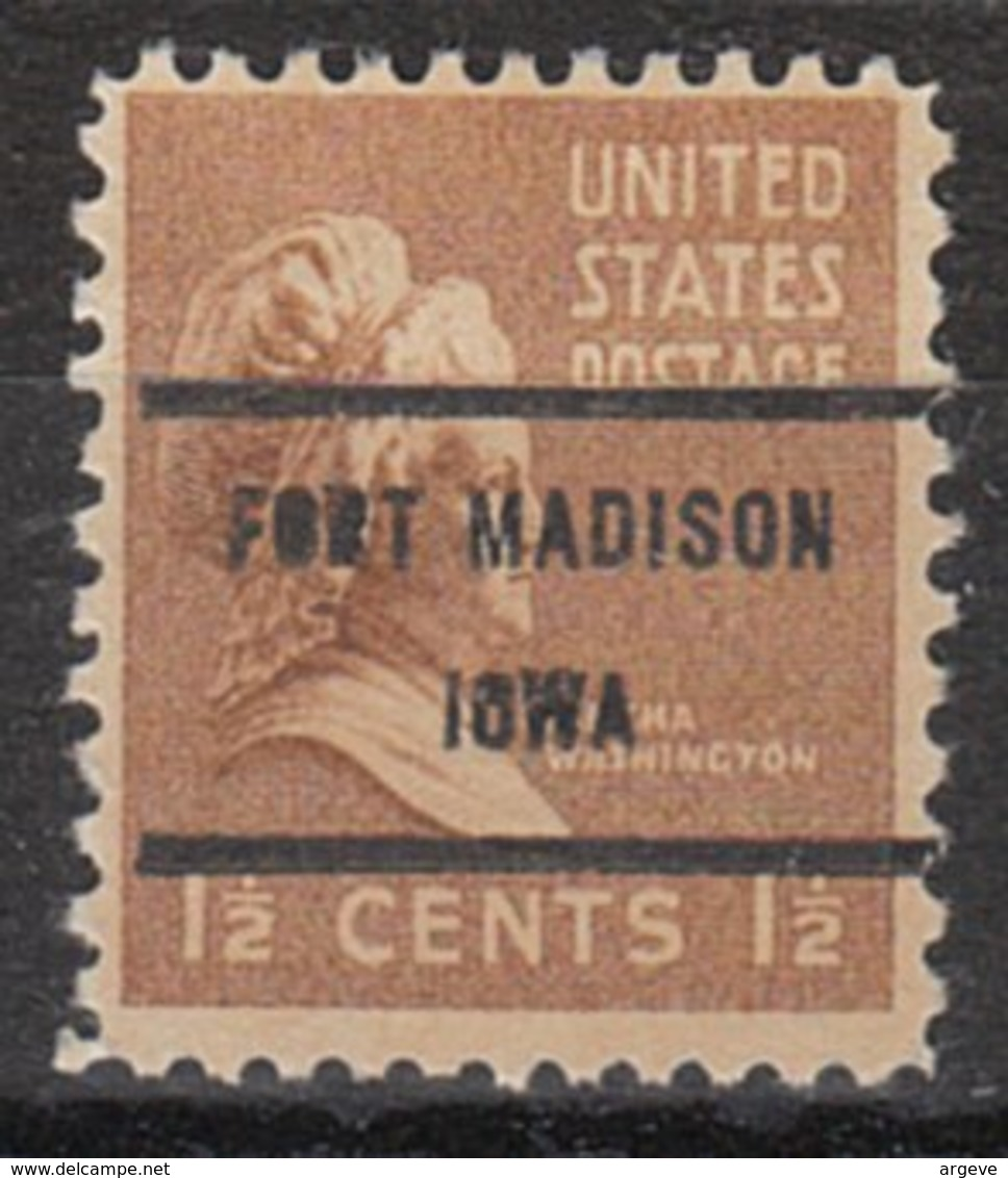USA Precancel Vorausentwertung Preo, Bureau Iowa, Fort Madison 805-71 - Vereinigte Staaten