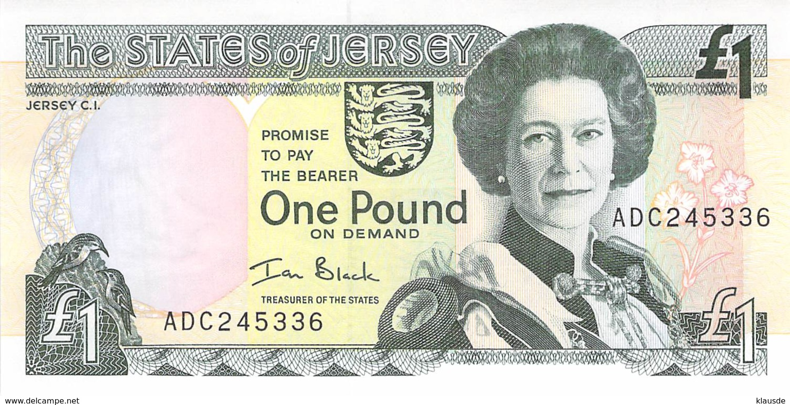 One Pound Jersey UNC - [ 4] Isle Of Man / Channel Island