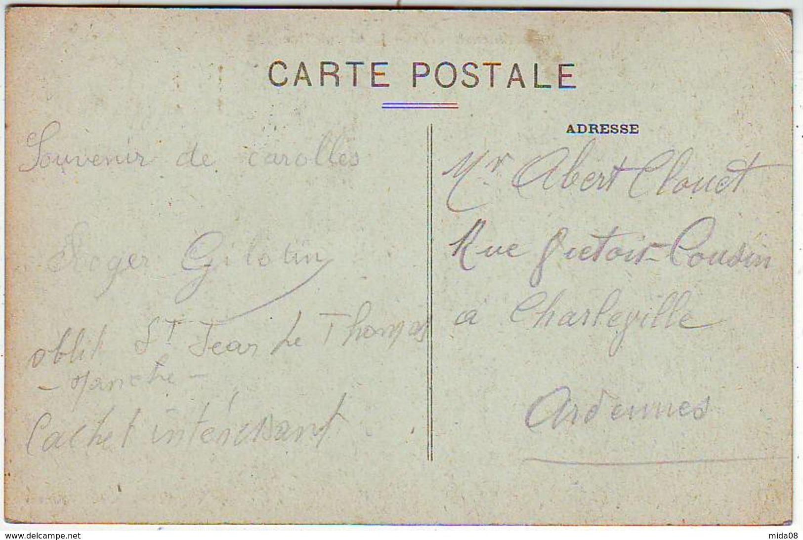 50. CAROLLES . LA GRANDE RUE . ANIMEE . HOTEL DES BAINS . Editeur LE ROY - France