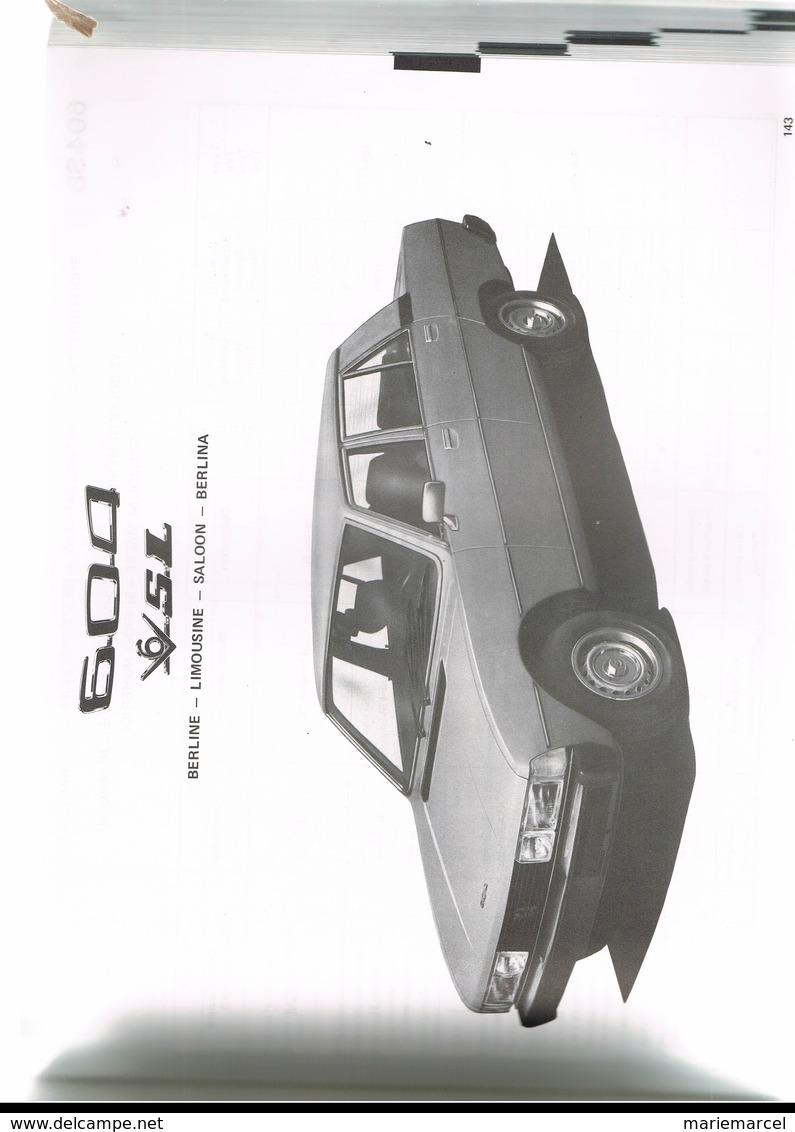 LA PRODUCTION PEUGEOT 1977.  104.304.404.504.604. J7. BERLINE. BREAK. CABRIOLET. LES MOTEURS. - Auto