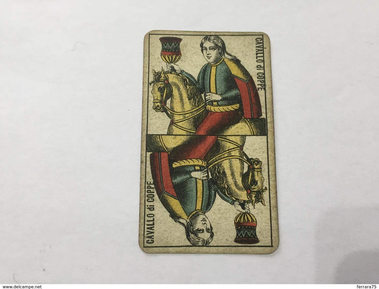 CARTA DA GIOCO PIEMONTESE VIASSONE TAROCCHI CAVALLO DI COPPE 1896 - Non Classificati