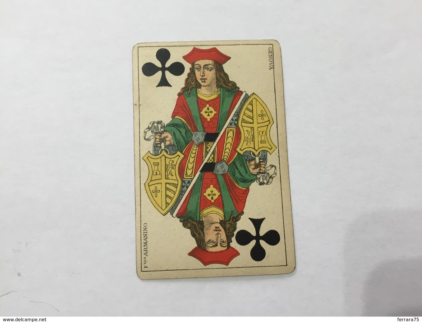 CARTA DA GIOCO POKER FRATELLI ARMANINO FANTE DI FIORI 1886 GENOVA - Altre Collezioni