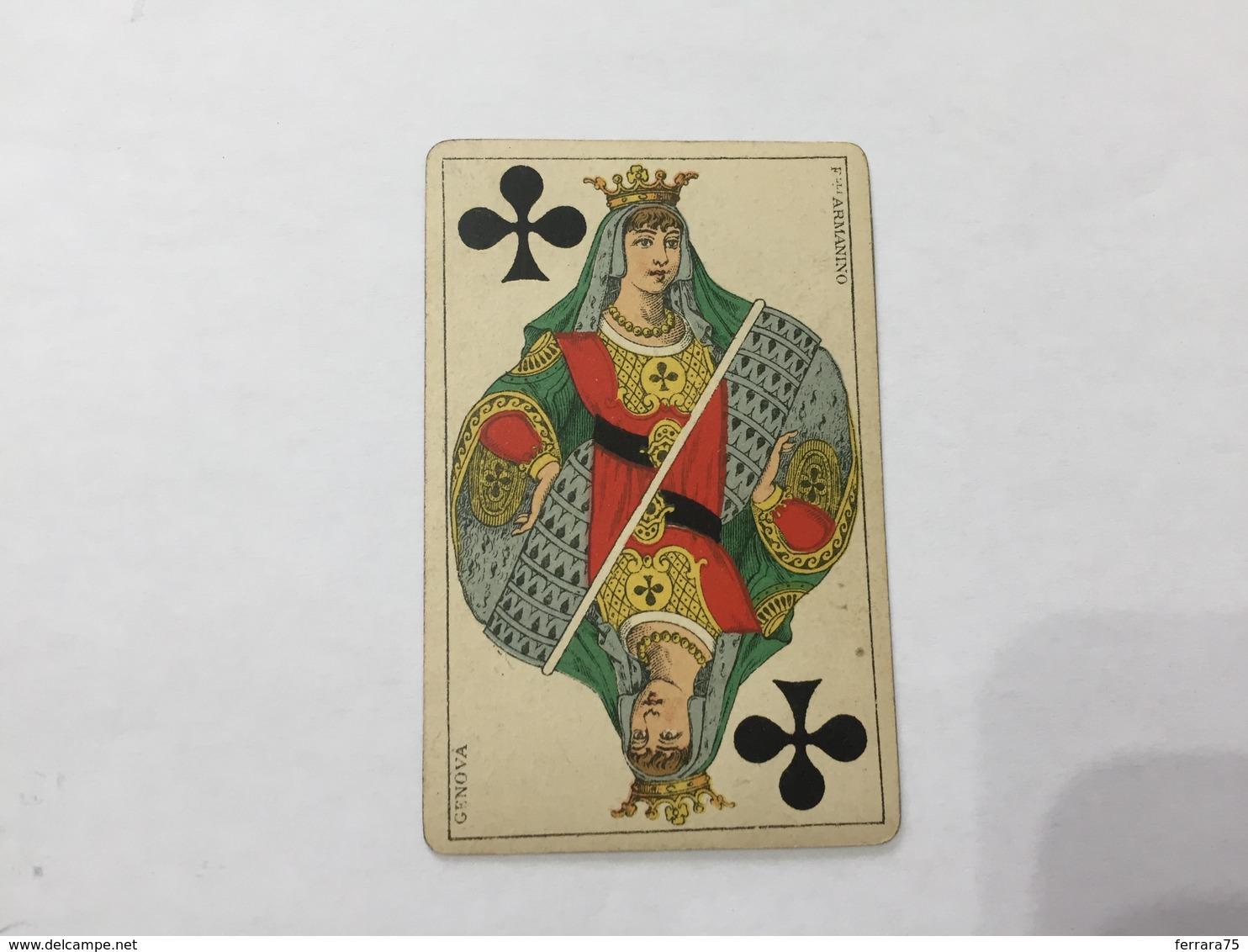 CARTA DA GIOCO POKER FRATELLI ARMANINO REGINA DI FIORI 1886 GENOVA - Altre Collezioni