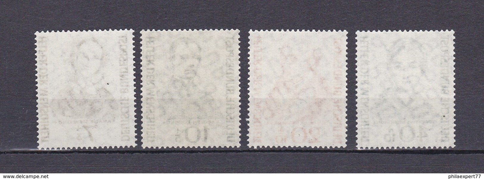 BRD - 1955 - Michel Nr. 222/225 - Postfrisch - 40 Euro - Ungebraucht