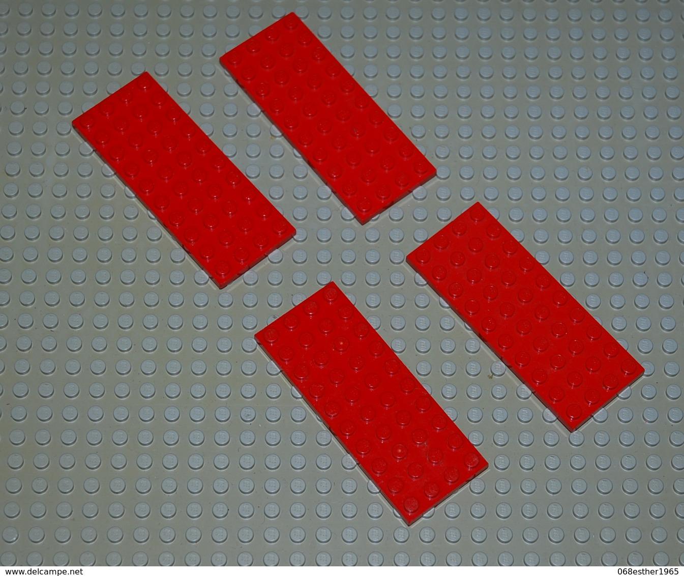 Légo 4 X Plate 4x10 Rouge Ref 3030 - Lego Technic