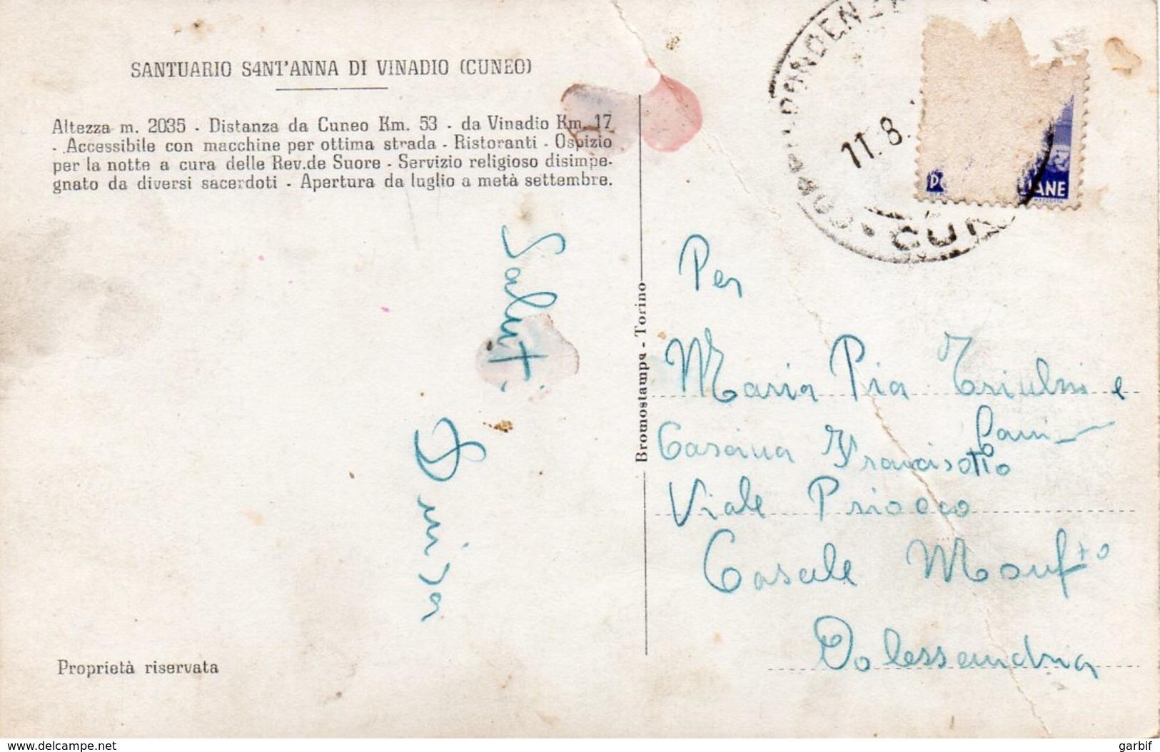 Cuneo - Santuario Di S. Anna Di Vinadio - Interno - Fp - Cuneo