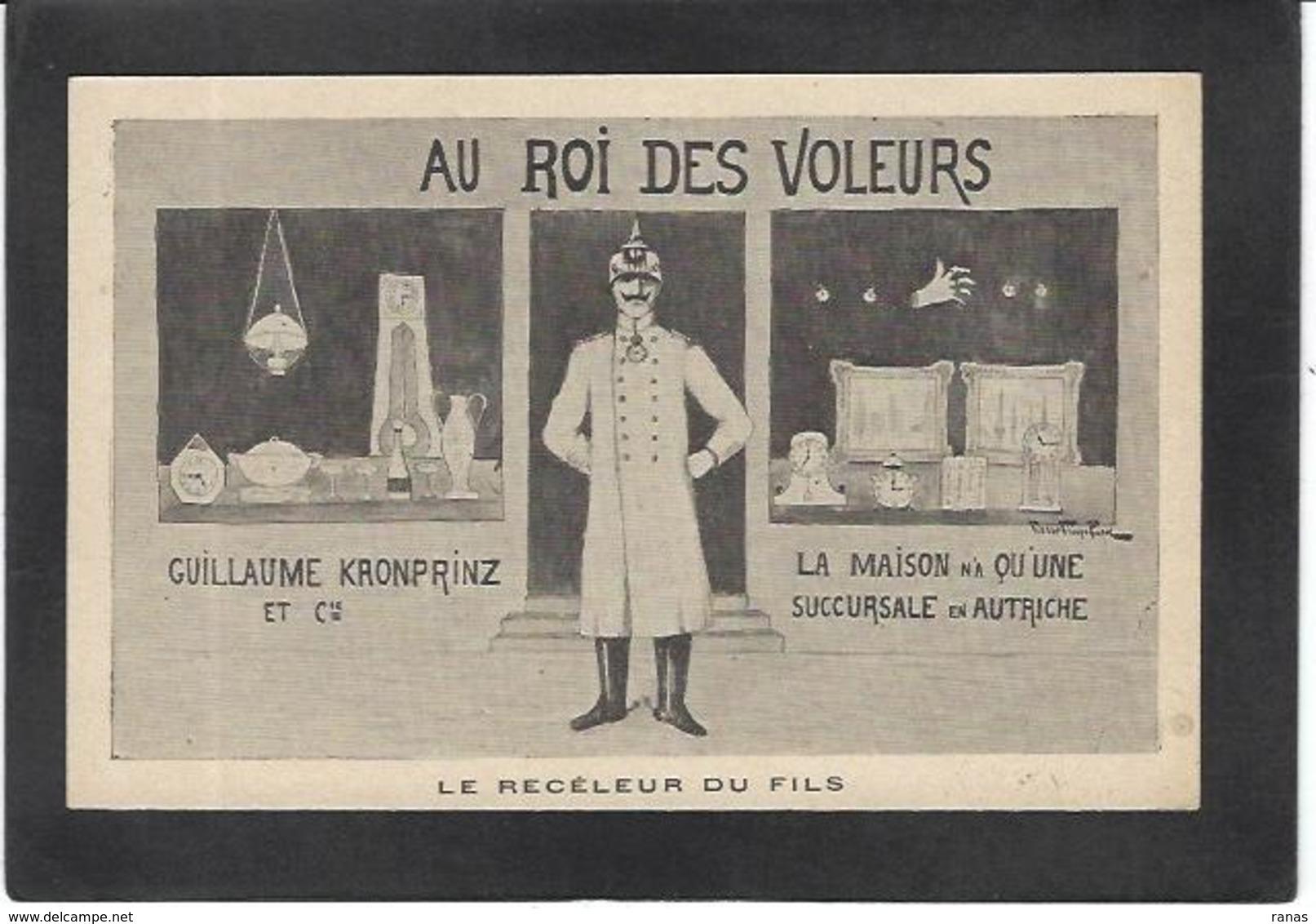 CPA Anti KAISER Germany Satirique Caricature Non Circulé - Guerre 1914-18