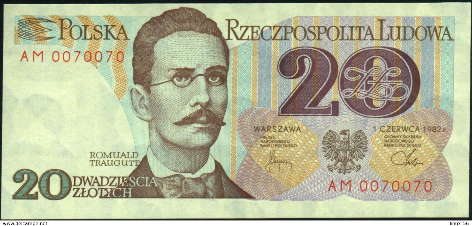 POLAND - 20 Zlotych 01.06.1982 {Narodowy Bank Polski} UNC P.149 - Polonia