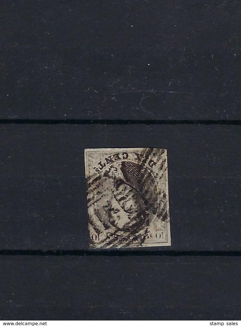 N°6 GESTEMPELD P115 Thielt MET 4 MARGES COB € 10,00 + COBA € 10,00 SUPERBE - 1851-1857 Médaillons (6/8)