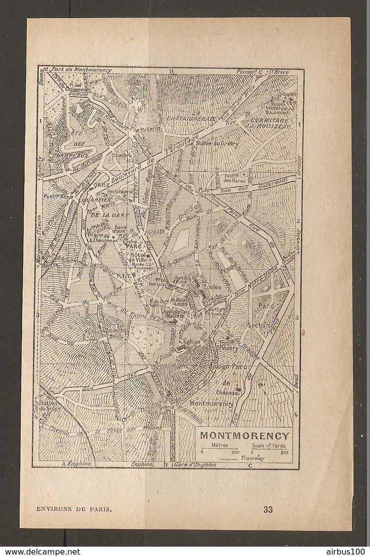 CARTE PLAN 1928 - MONTMORENCY LA CHATAIGNERAIE PARC SECHAN PTT - Topographical Maps
