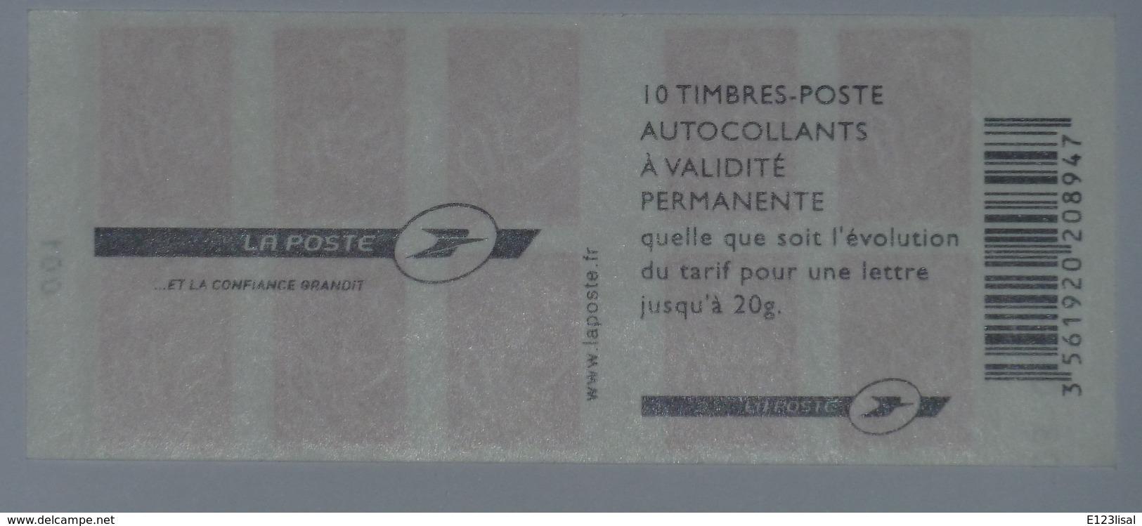 3744-C 8 Daté 03.01.06  Carnet 10 Timbres Marianne De LAMOUCHE - Usage Courant