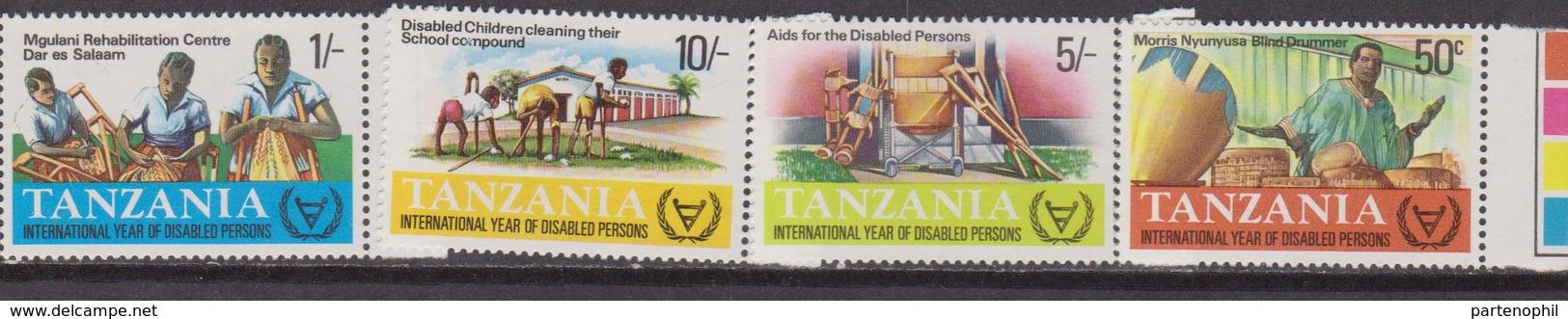 Tanzania 1981 Disabled Healt Medicine Set MNH - Handicap