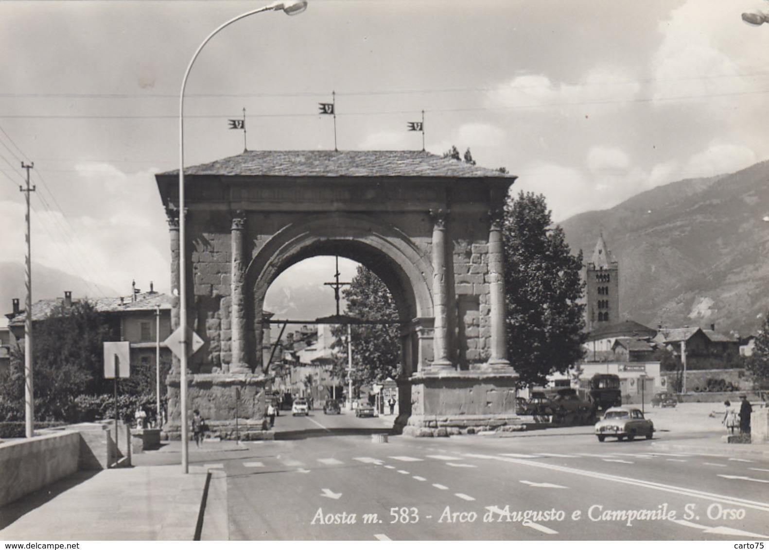 Italie - Aoste - Arco D'Augusto E Campanile S. Orso - Aosta