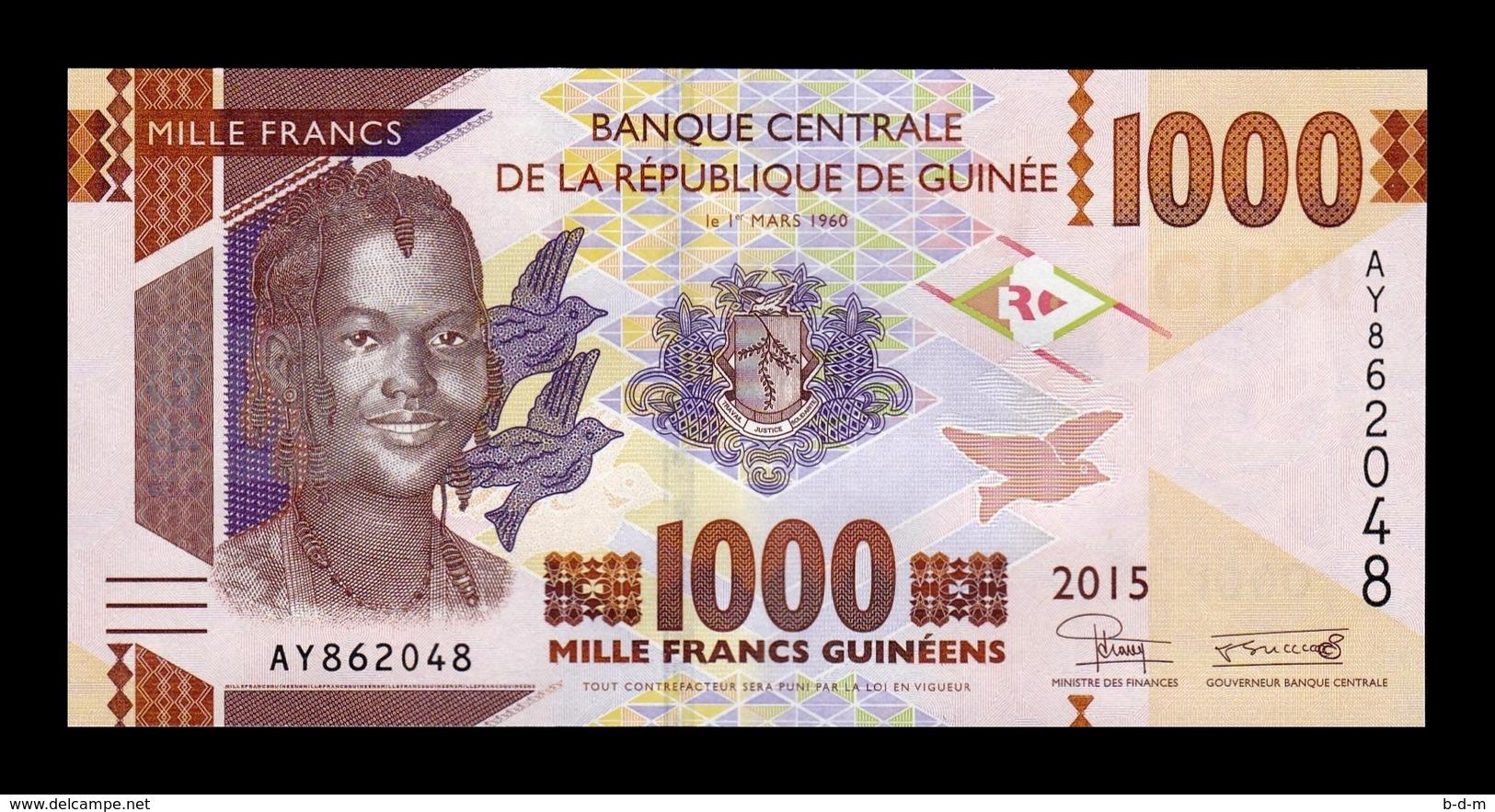 Guinea Lot Bundle 10 Banknotes 1000 Francs 2015 Pick 48 SC UNC - Guinea