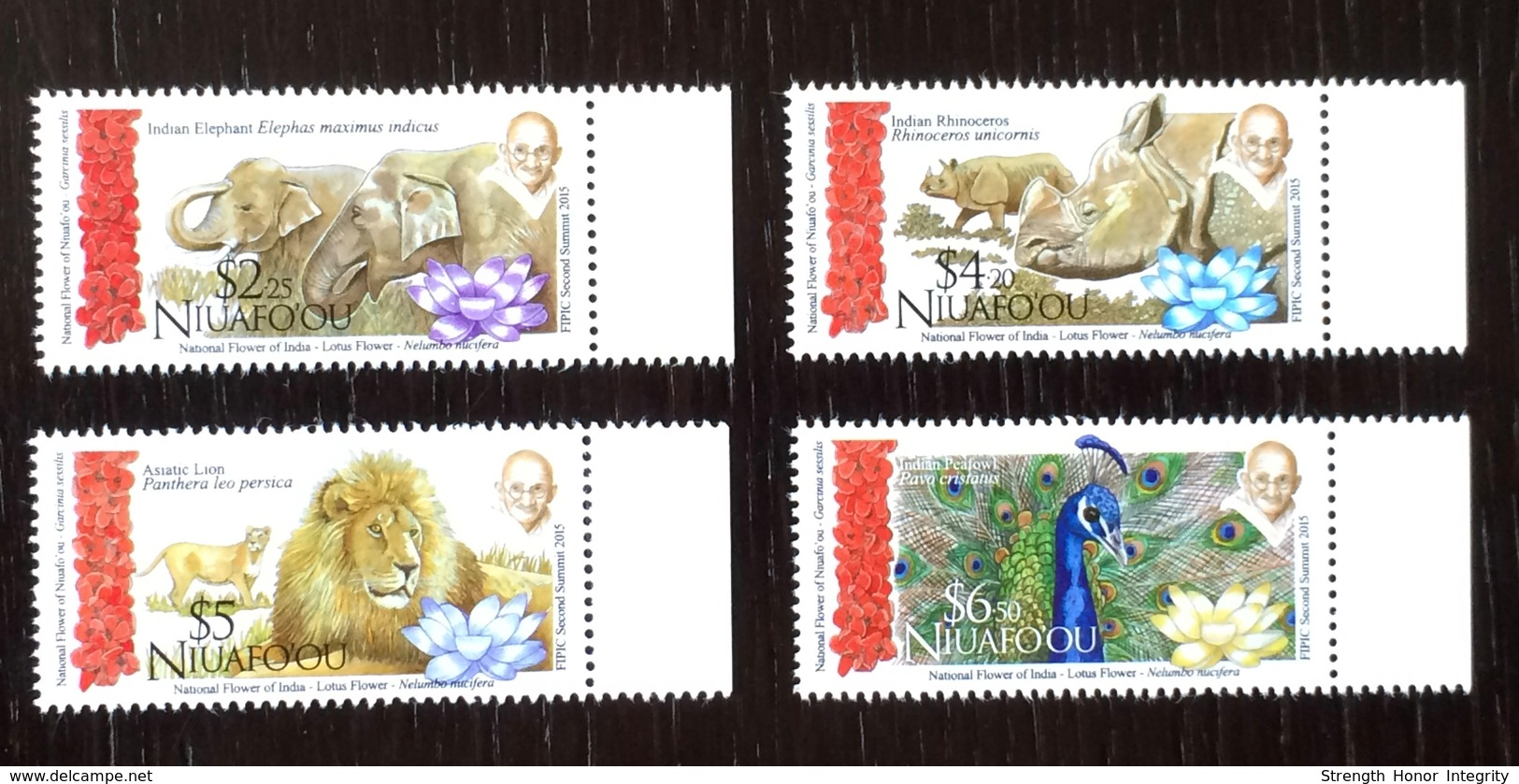 Niuafo' Ou - Tonga 2015; Fauna, Wild Animals; India - Gandhi; MNH** VF; CV 25 Euro!! - Postzegels
