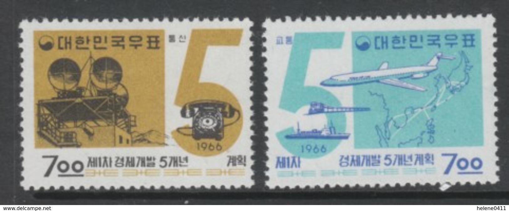 PAIRE NEUVE DE COREE DU SUD - PLAN QUINQUENAL N° Y&T 415/416 - Corée Du Sud
