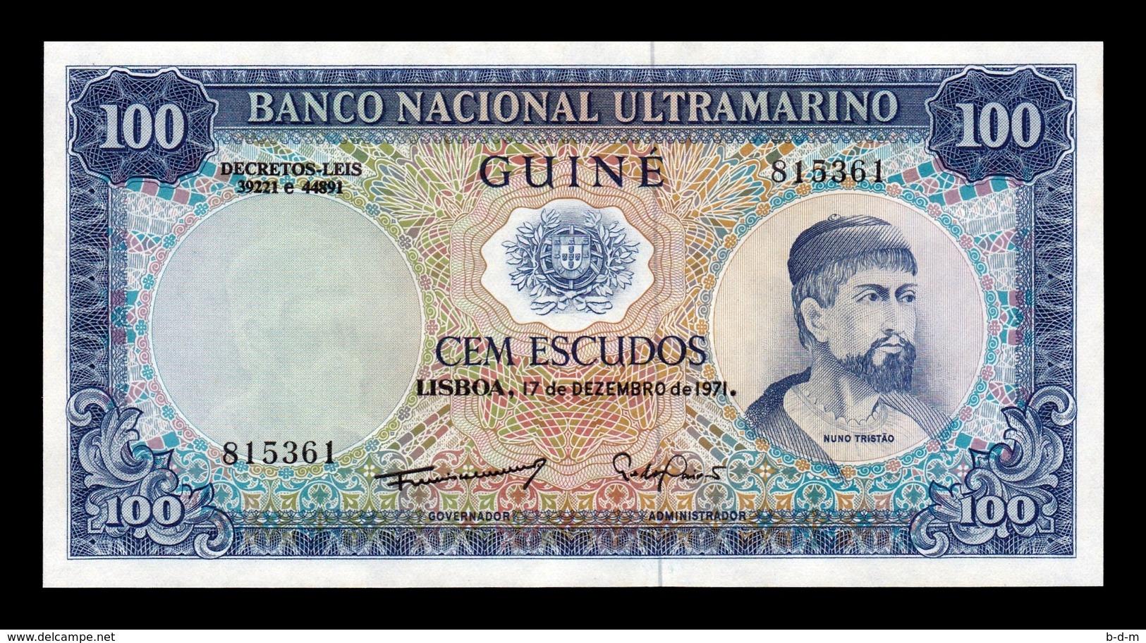 Portuguese Guinea Portuguesa 100 Escudos 1971 Pick 45 SC UNC - Bankbiljetten