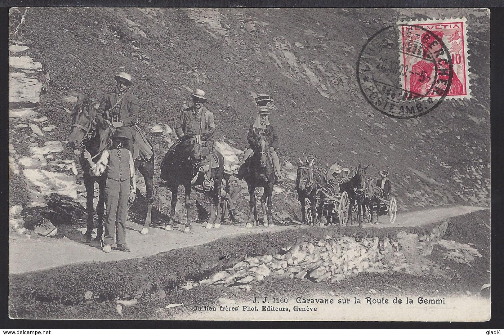 Caravane Sur La Route De La Gemmi - 1909 - VS Valais