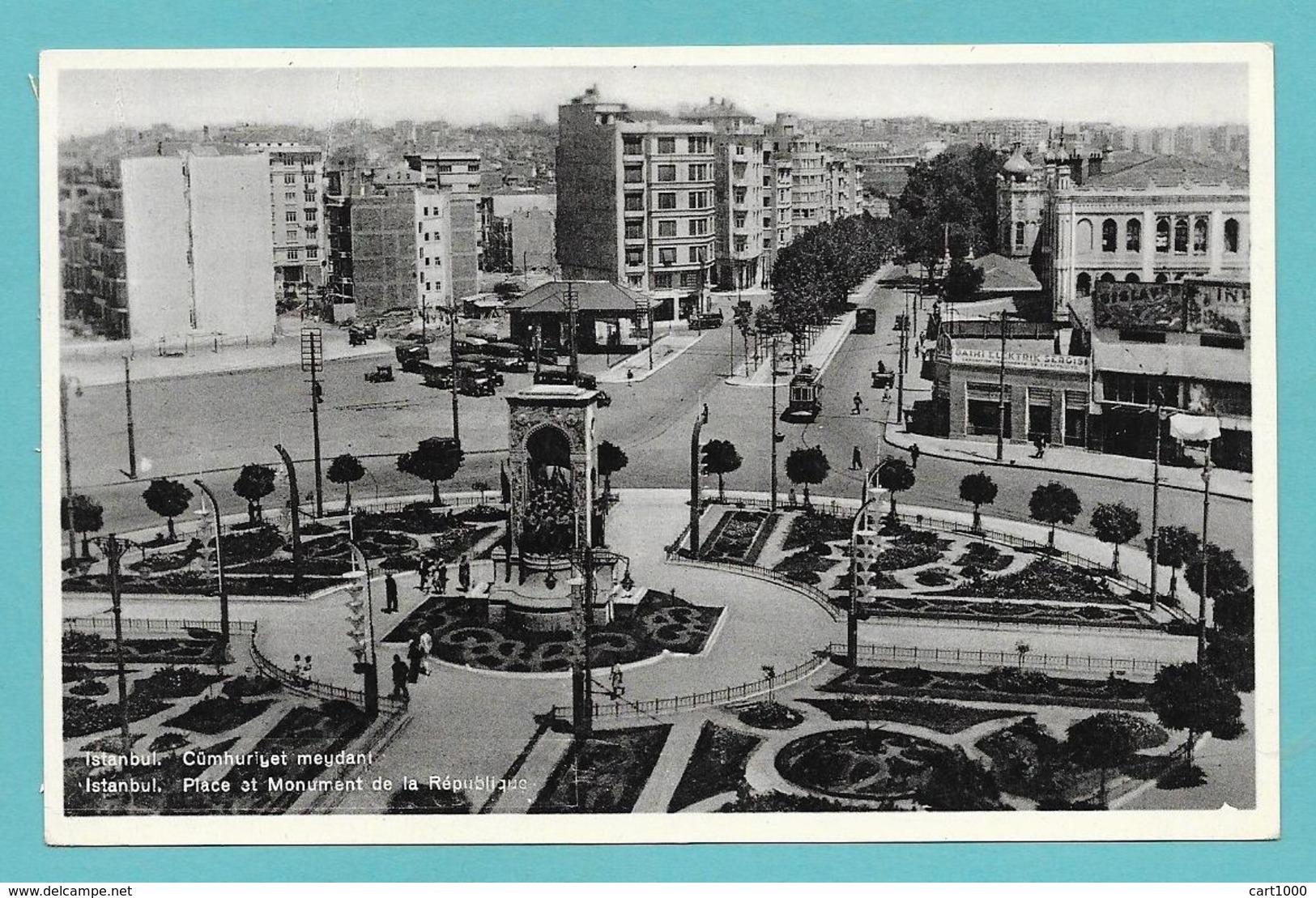 ISTANBUL PLACE ET MONUMENT DE LA REPUBLIQUE UNUSED - Turchia