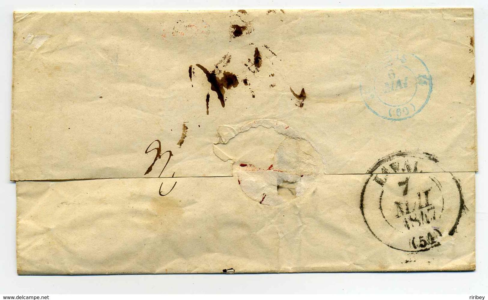 Cad De LIEGNITZ + Cachet D'entrée En France : 3 PRUSSE 3  Par GIVET / 1847 - Marcophilie (Lettres)