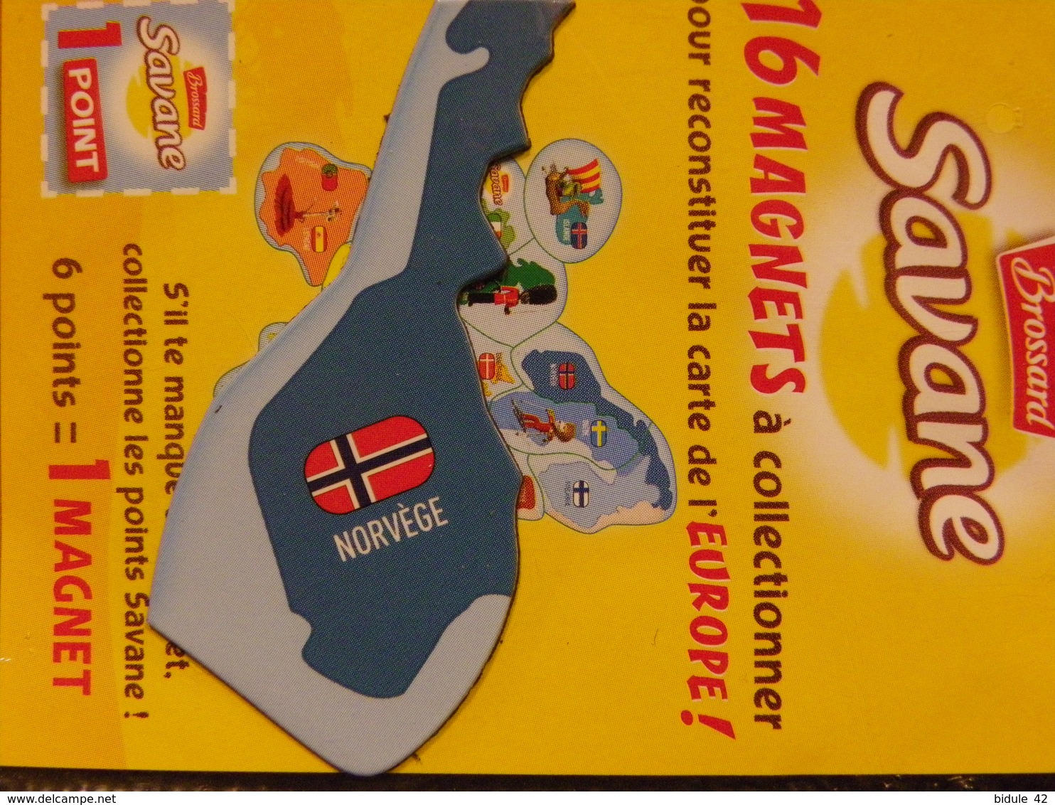 Magnet BROSSARD Europe Norvège - Tourisme