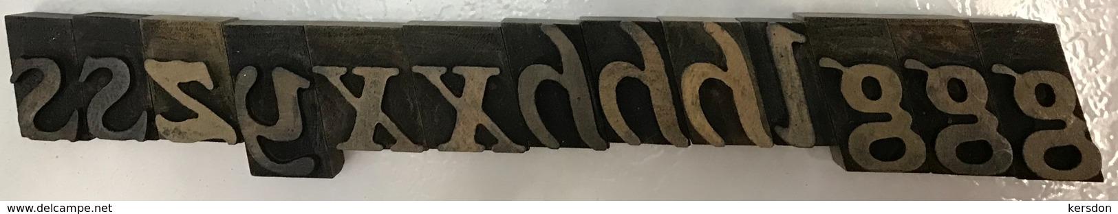 Lettres Typographique En Bois Diverses Lettres - Technical