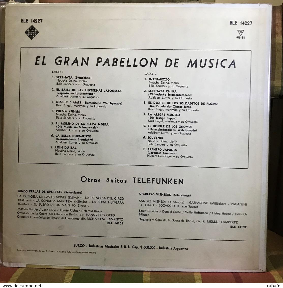LP Argentino De Artistas Varios El Gran Pabellón De Música Año 1963 - Instrumental