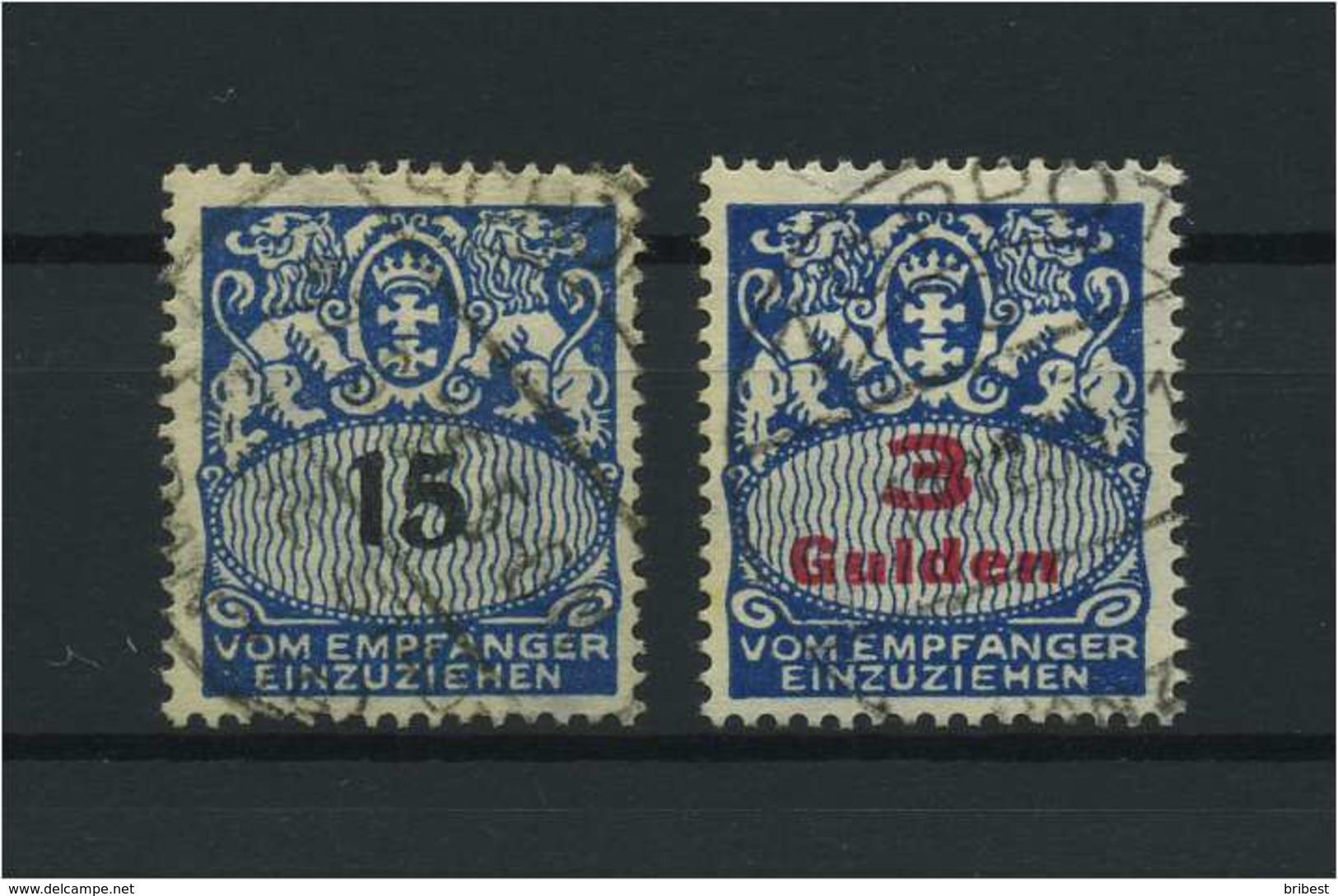 DANZIG 1923 Nr P38-39 Gestempelt (116429) - Danzig