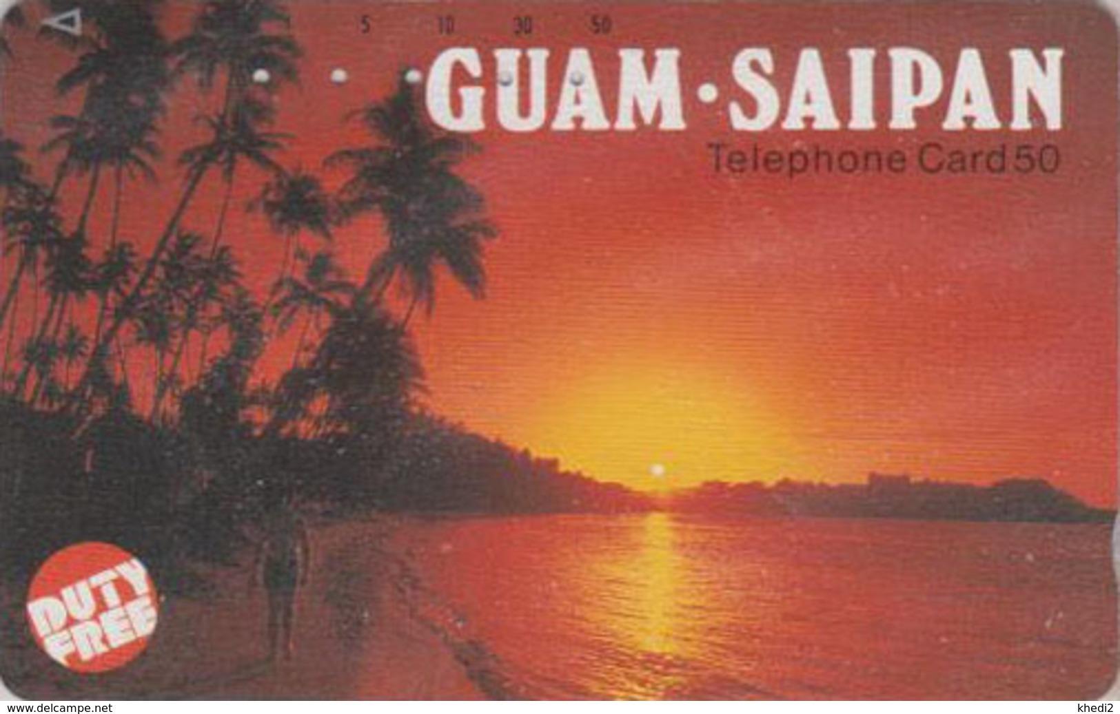 Télécarte Japon / 110-55746 - Site GUAM SAIPAN USA ** DUTY FREE ** - Coucher De Soleil - Sunset Japan Phonecard - 57 - Landschappen