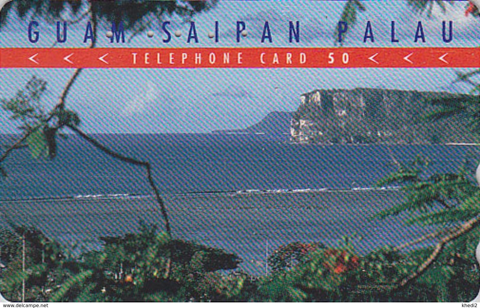 Télécarte Japon / 110-011 - Site GUAM USA SAIPAN PALAU - Plage & Rocher - Beach & Rock Japan Phonecard - 62 - Landschappen