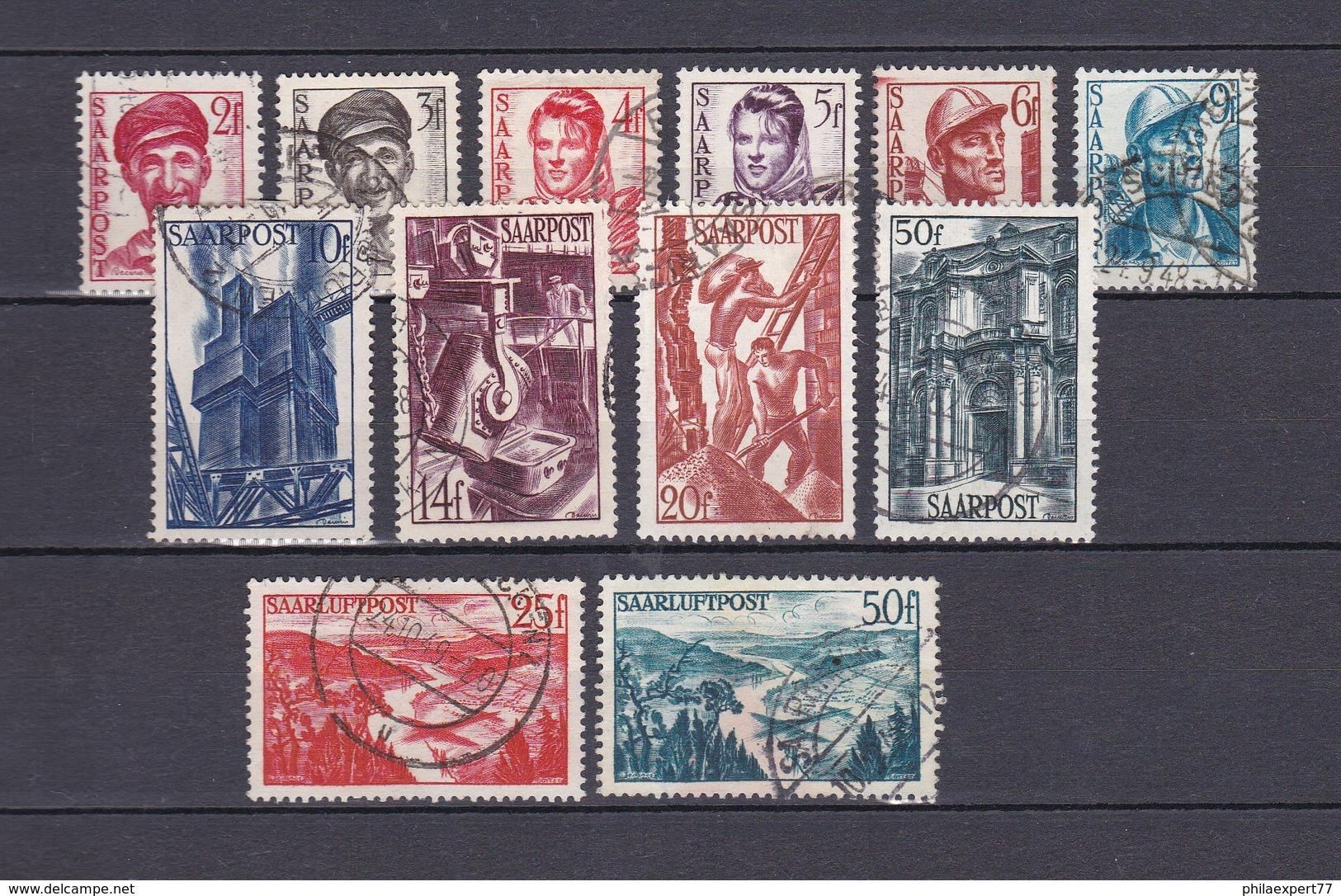 Saarland - 1948 - Michel Nr. 242/51+252/53 - Gest. - 16,6 Euro - 1947-56 Allierte Besetzung