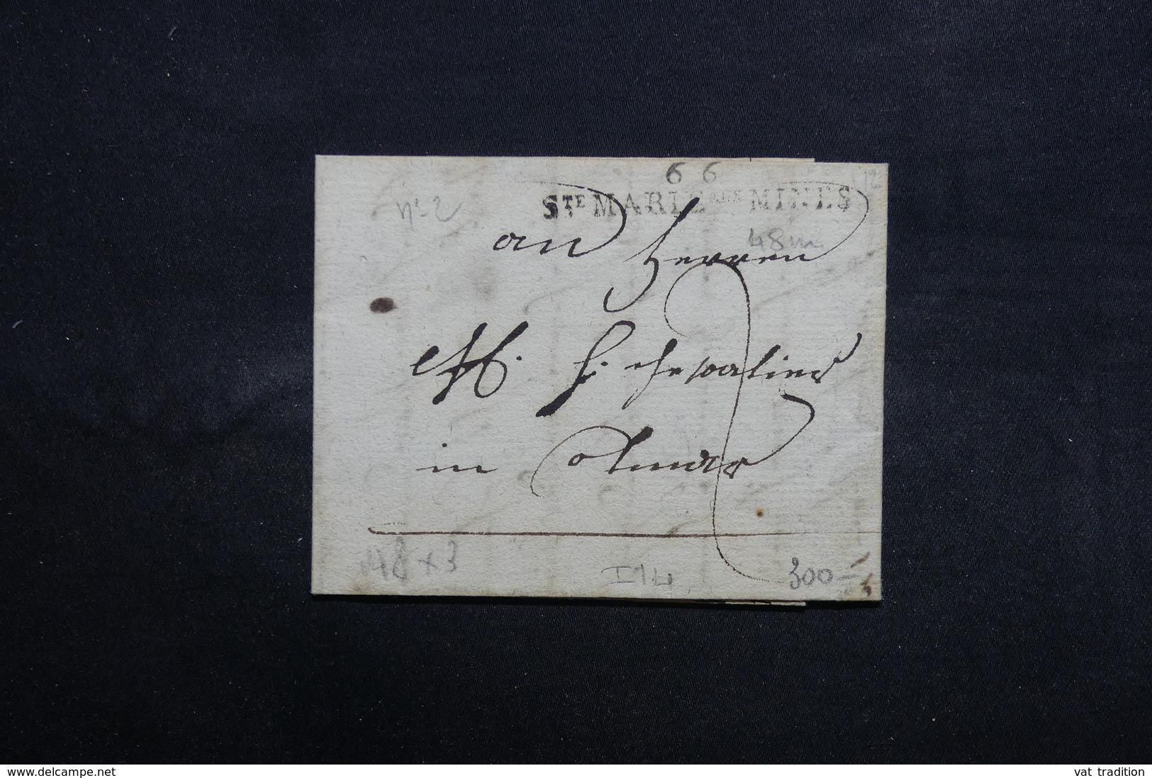 """FRANCE - Marque Postale """" 66 Sainte Marie Aux Mines """" Sur Lettre -  L 31685 - Marcophilie (Lettres)"""