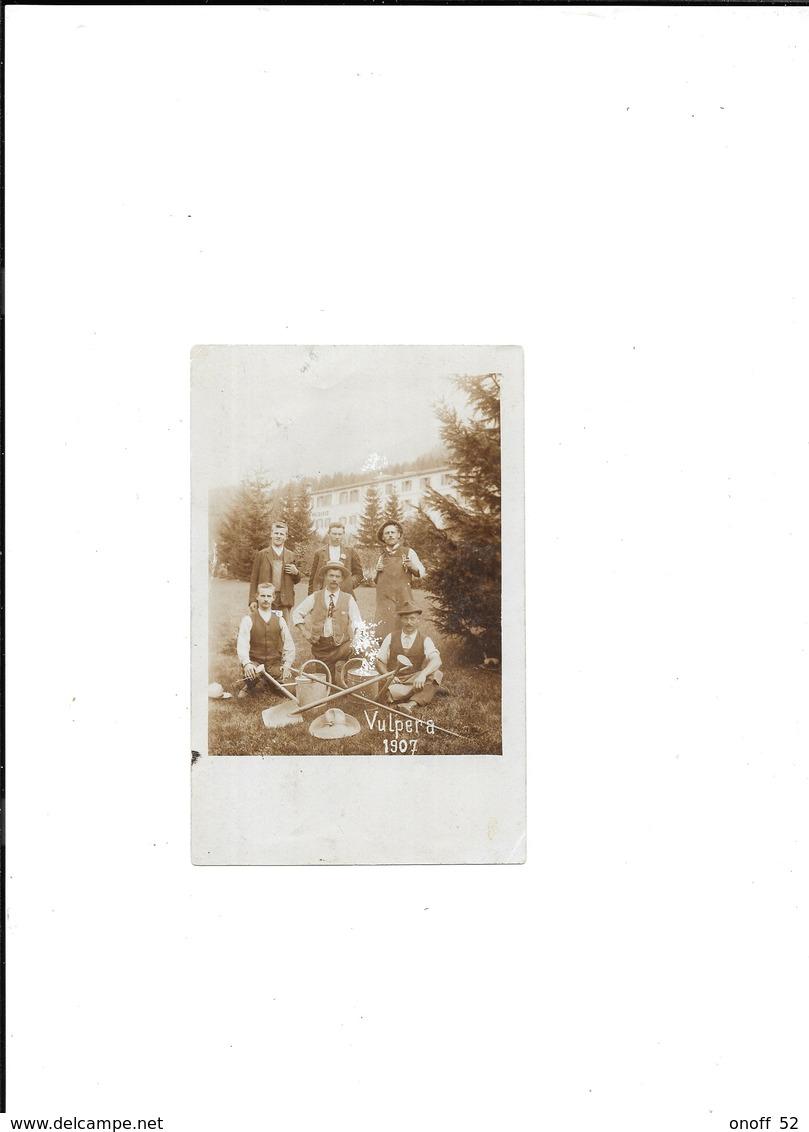 VULPERA GR GRISONS SUISSE 1907 CARTE PHOTO - GR Grisons