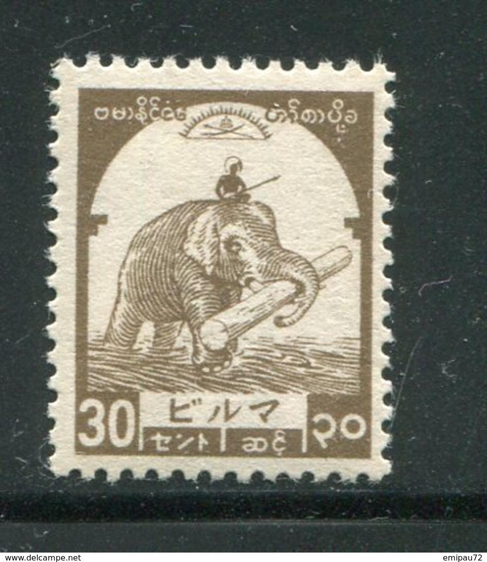 BIRMANIE- Occupation Japonaise- Y&T N°43- Neuf Sans Charnière ** - Autres