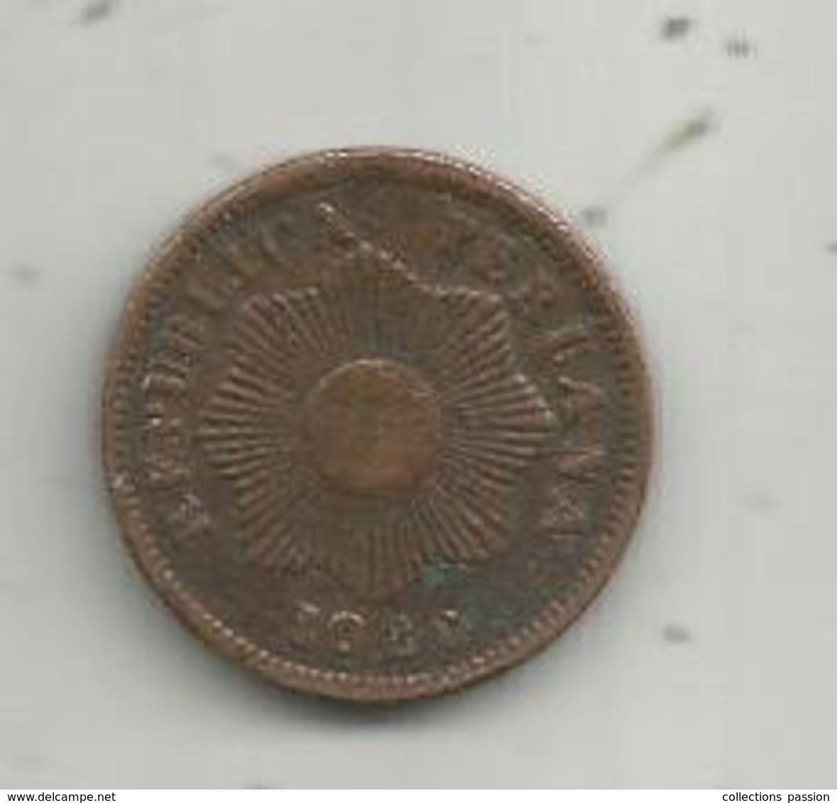 Monnaie,  PEROU ,  Republica PERUANA ,  Un Centavos , 1926,  2 Scans - Pérou