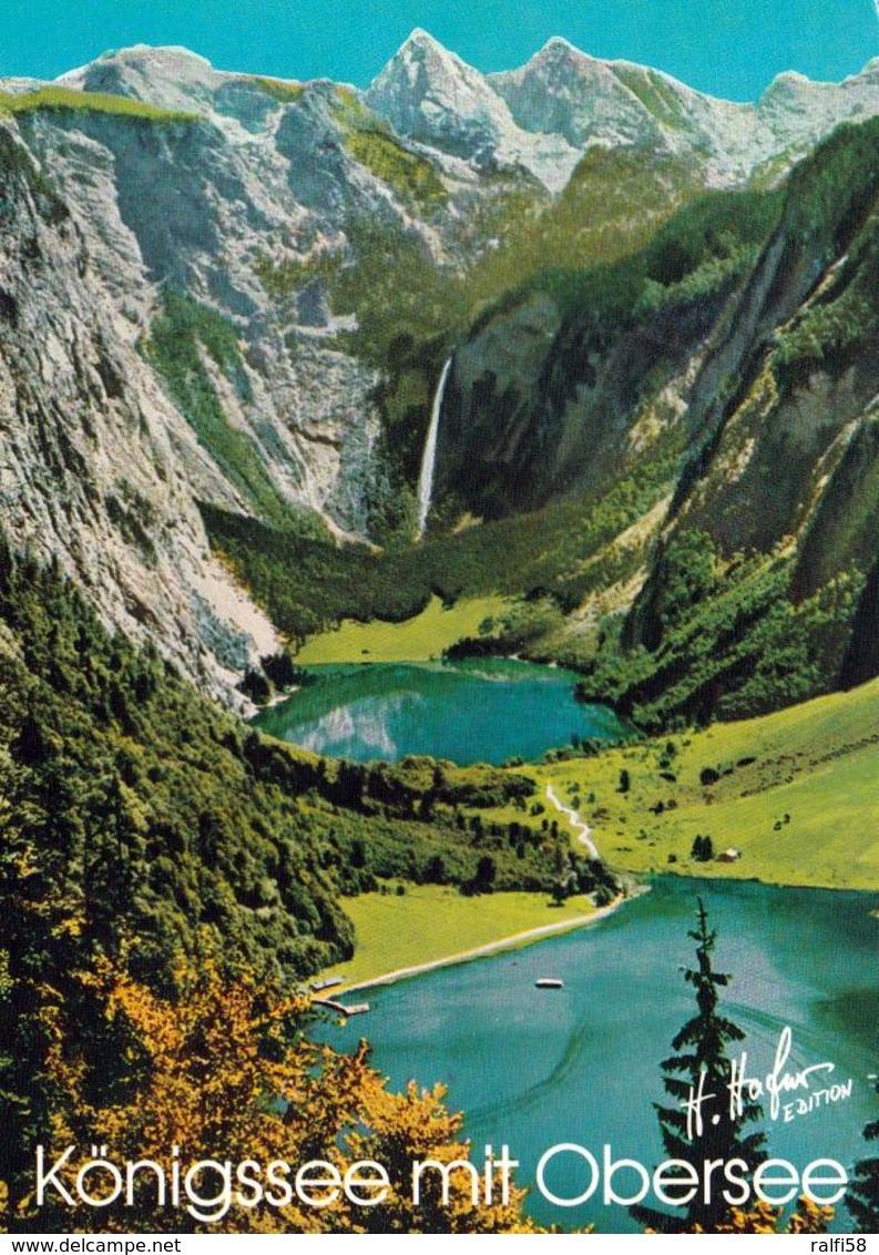 1 AK Germany Bayern * Blick Auf Den Königssee Mit Dem Obersee Und Einem Wasserfall * - Deutschland