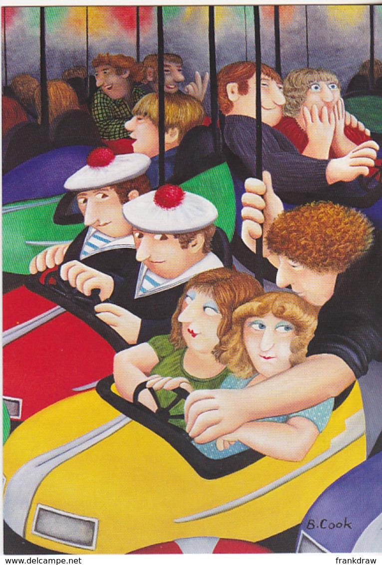 Postcard - Art - Beryl Cook - Bumper Cars - New - Cartes Postales