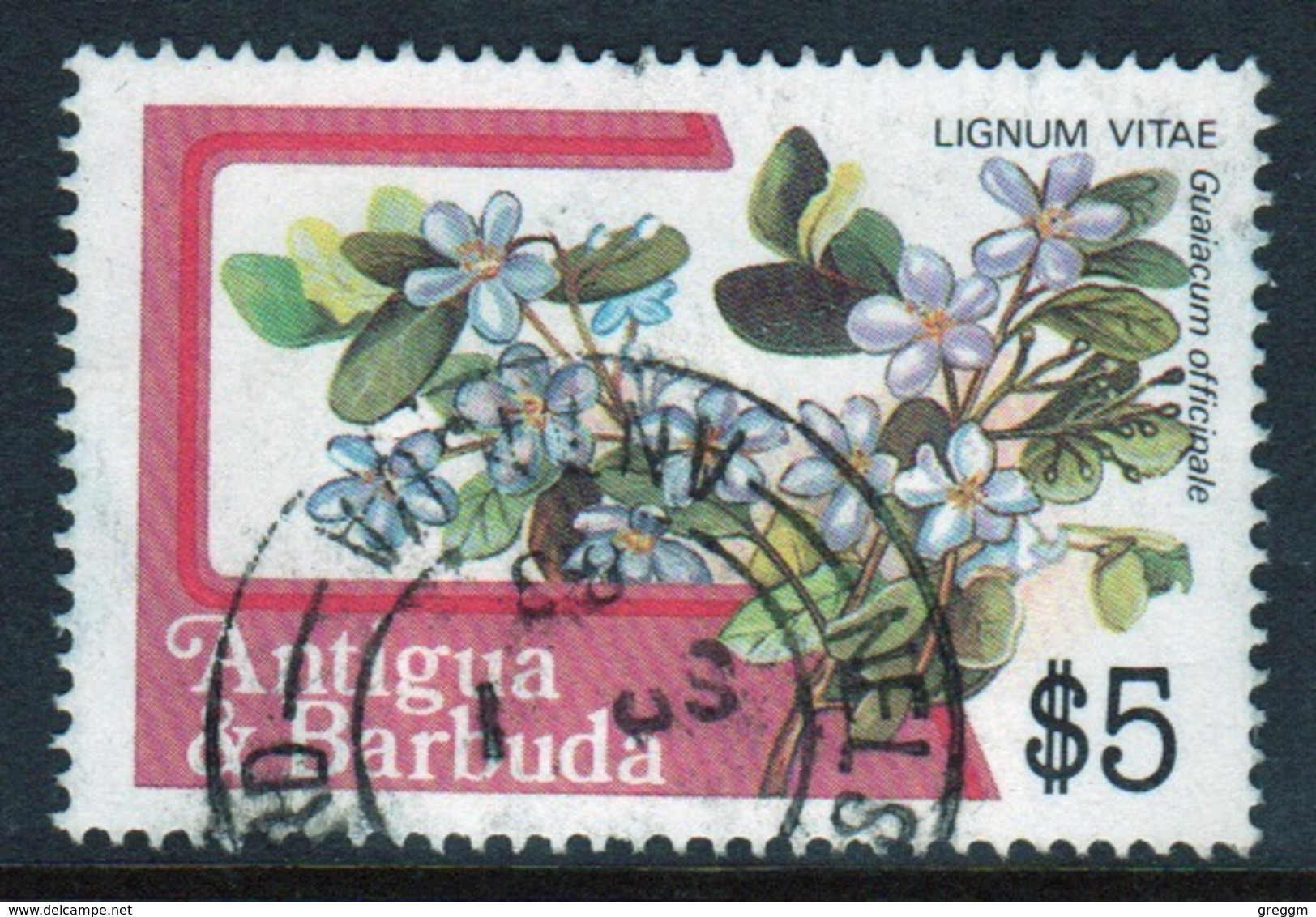 Antigua 1983 Single $5 Stamp From The Definitive Set. - Antigua And Barbuda (1981-...)
