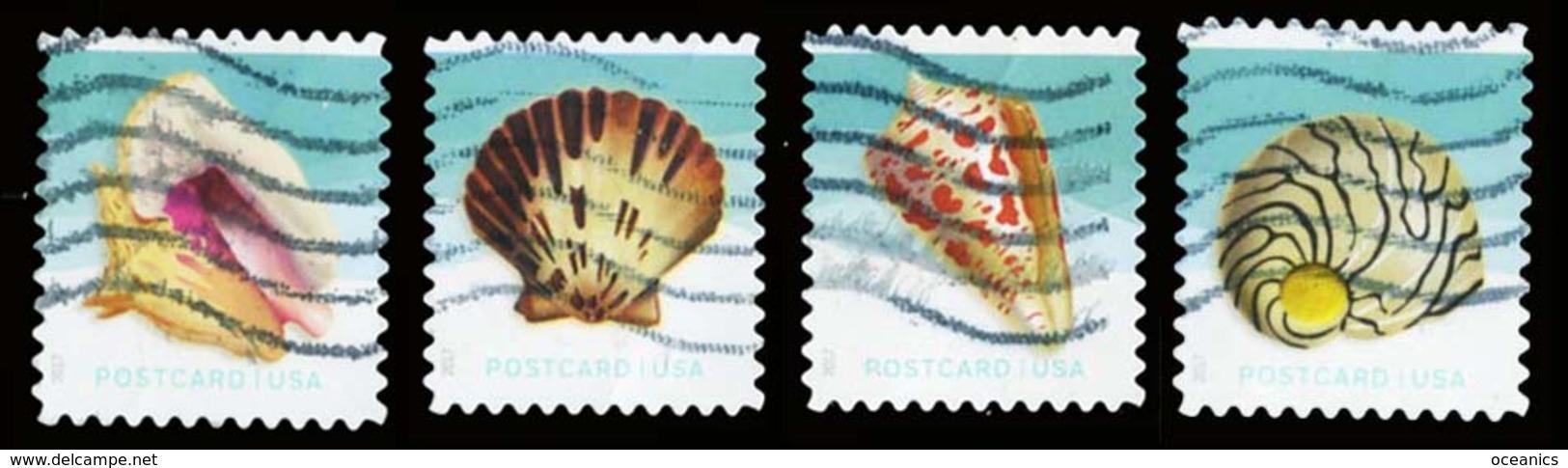 Etats-Unis / United States (Scott No.5163-6 - Shells) (o)set - Gebruikt