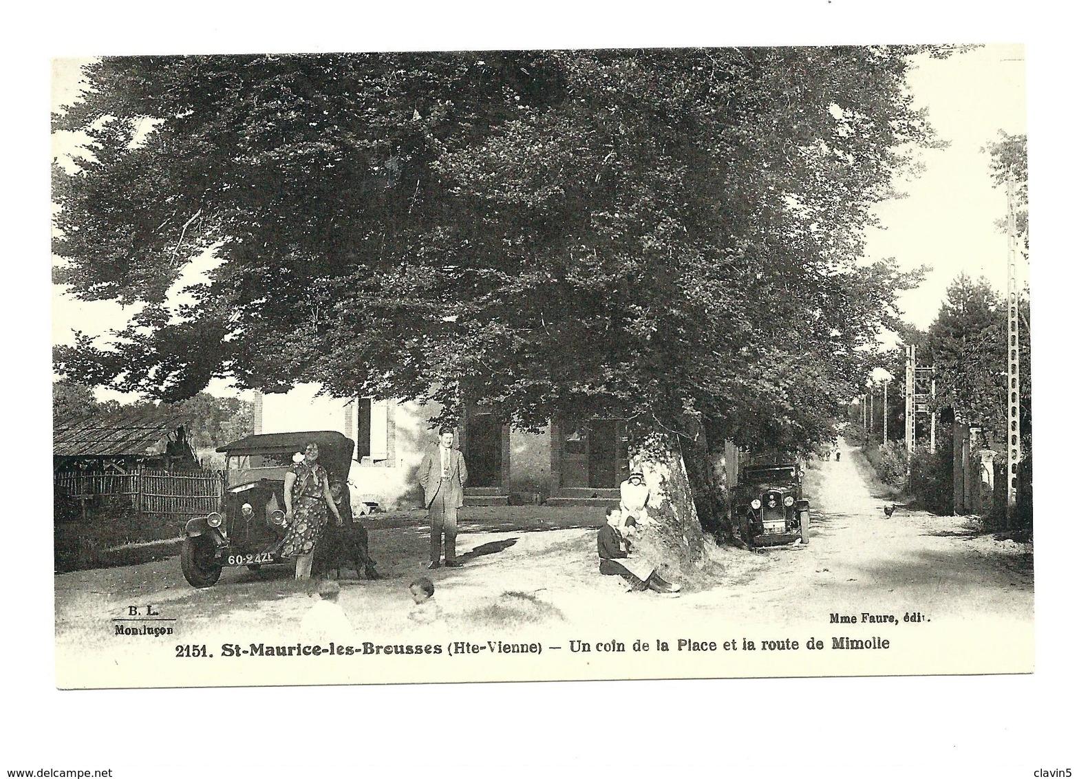 SAINT MAURICE LS BROUSSES  87 HAUTE VIENNE BEAU PLAN ANIME VOITURE - Saint Mathieu