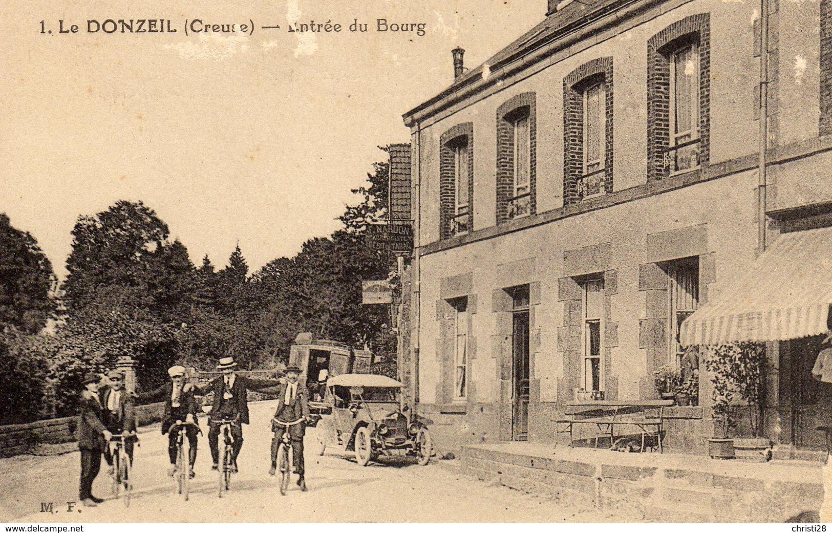 DPT 23 LE DONZEIL Entrée Du Bourg - France