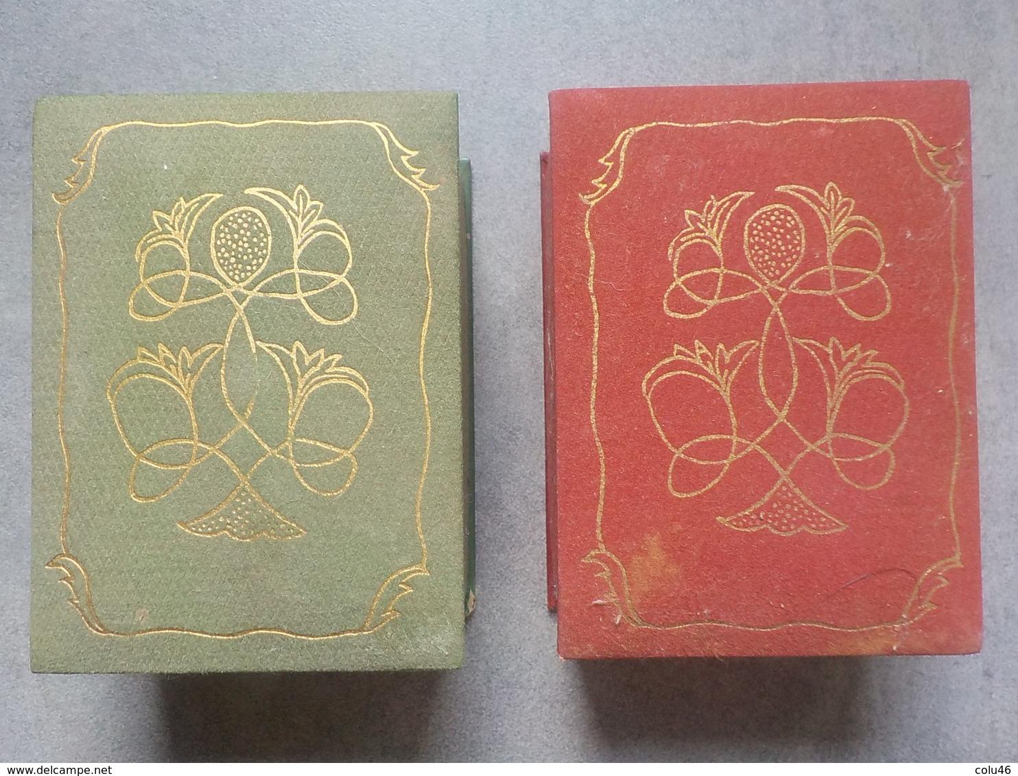 2 Boîtes Anciennes Rares Vides Pour Parfum Ancien Fleur Stylisée - Miniatures Anciennes (jusque 1960)
