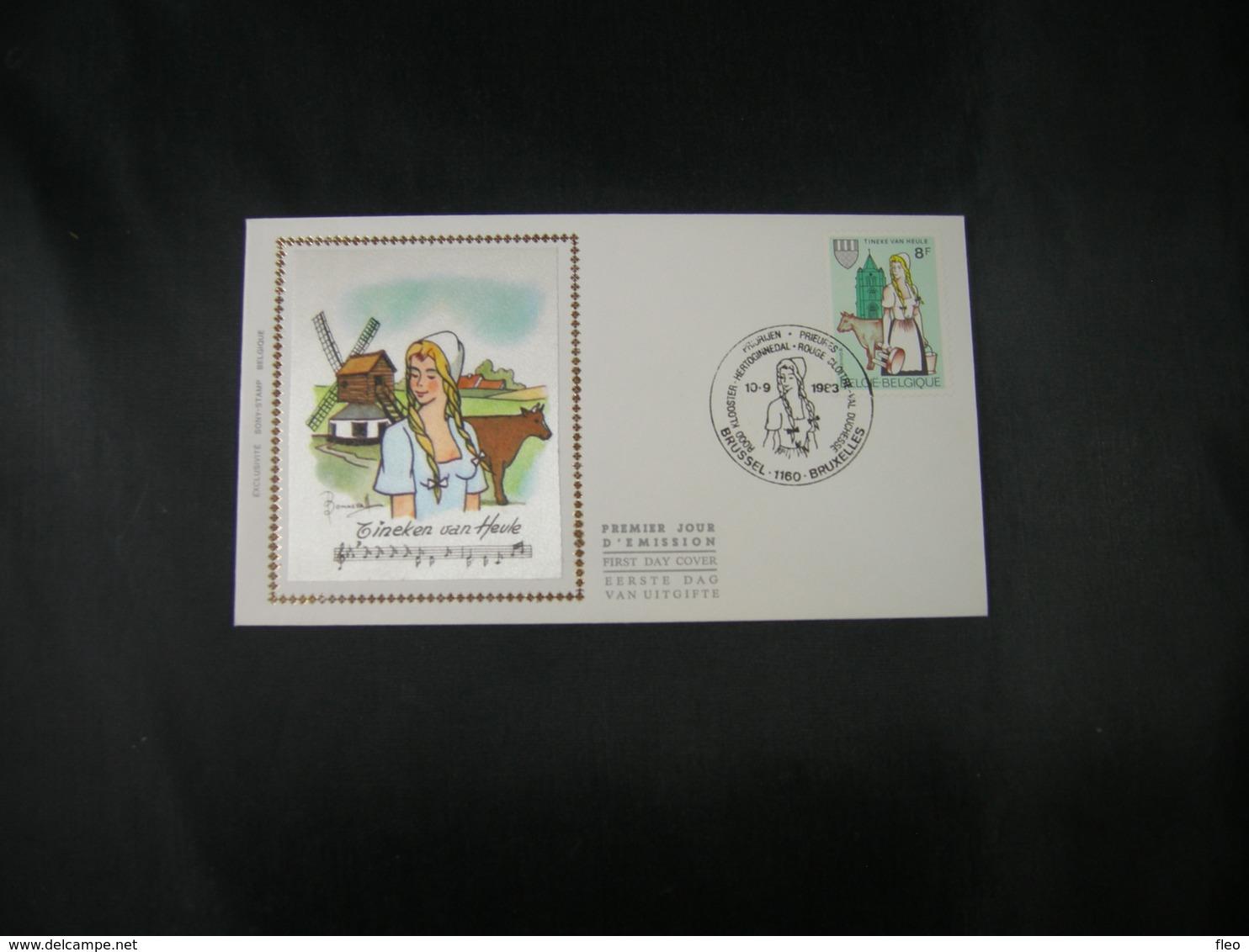 "BELG.1983 2100 FDC Zijde/soie ( Brus ) : "" 20e Tinekesfeesten Te Heule "" - FDC"