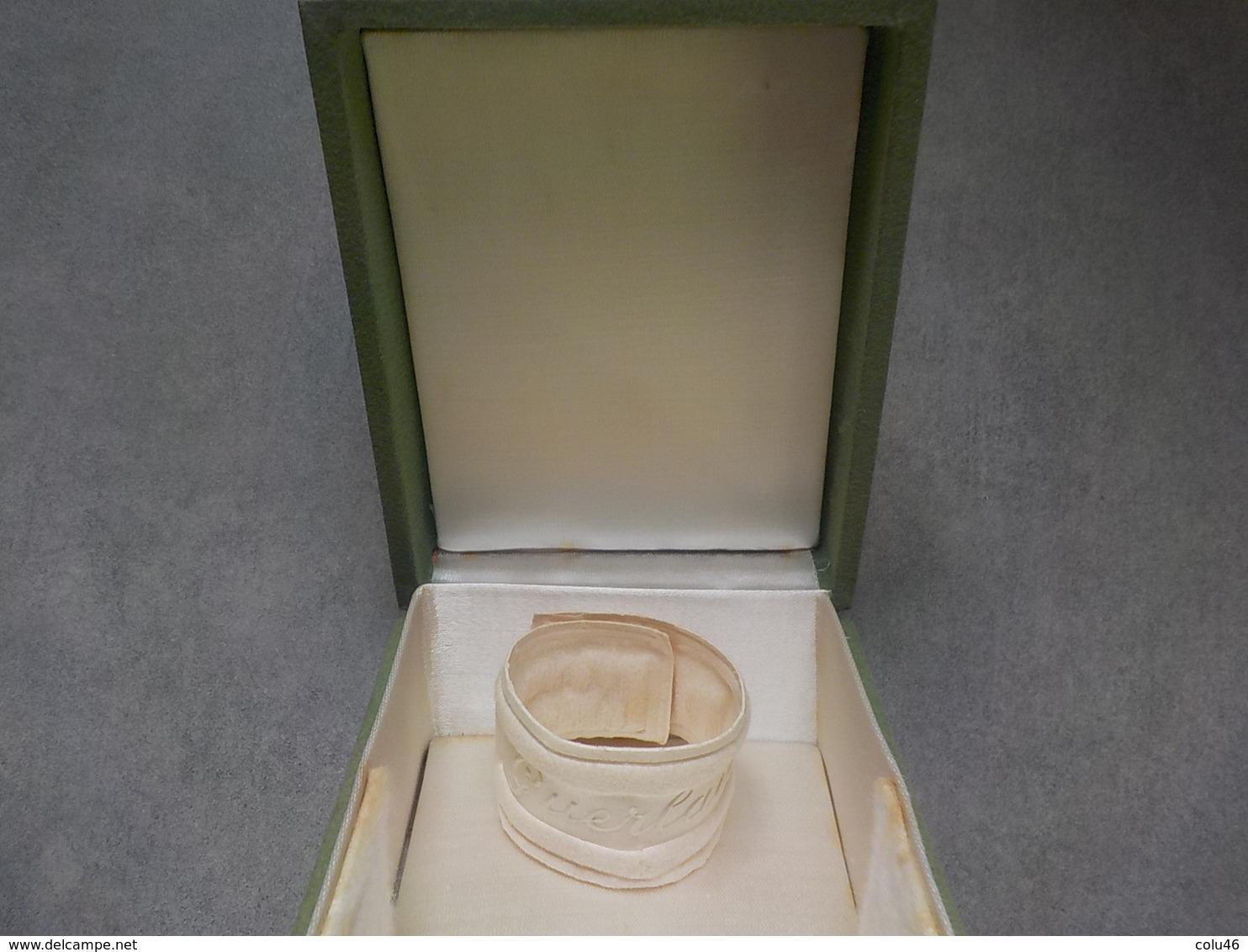 Boîte Ancienne Rare Vide Pour Parfum Ancien Fleur Stylisée Grand Modèle - Miniatures (avec Boite)