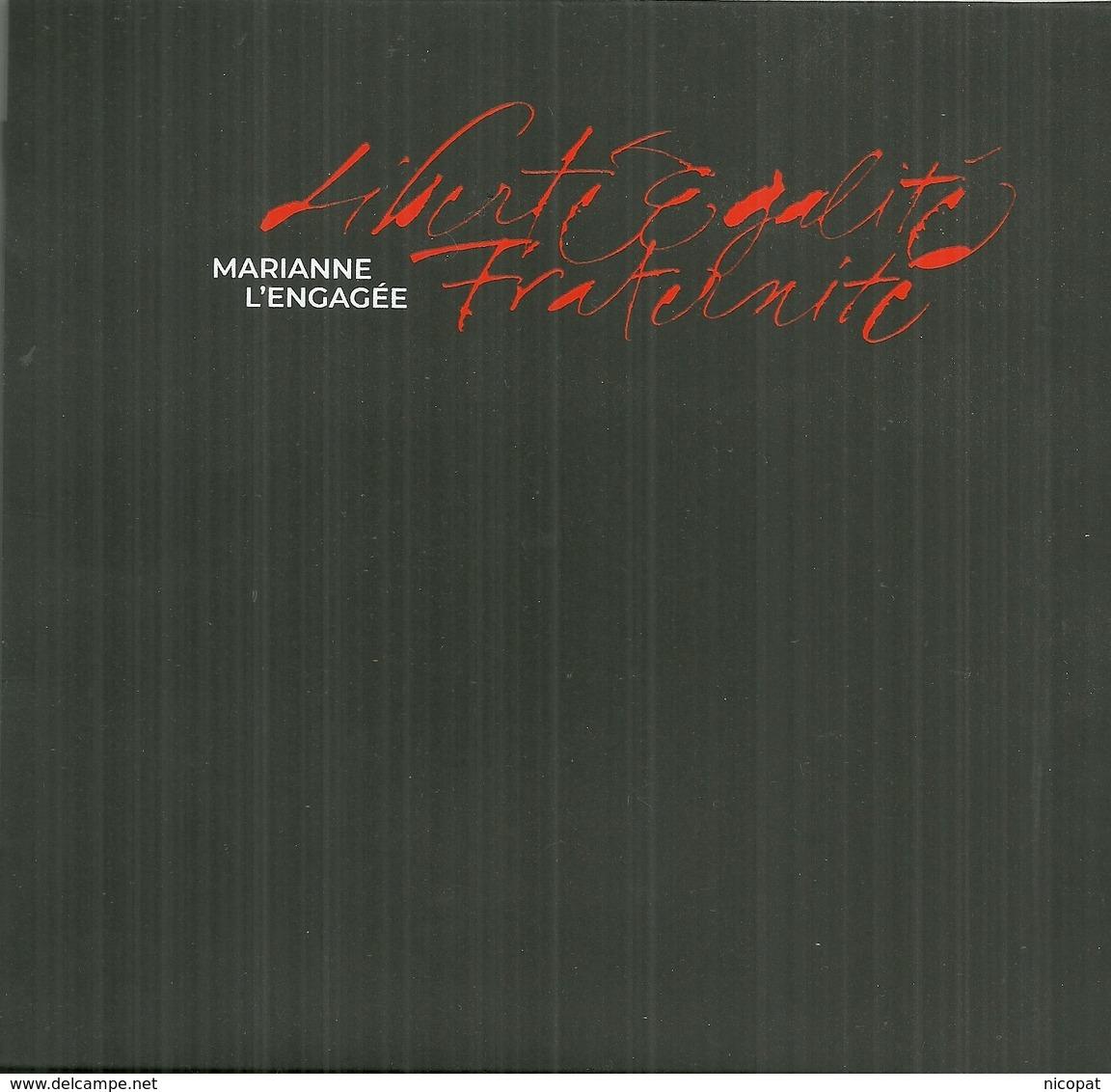 FRANCE Marianne L'engagée MNH ** Coffret Des 10 Blocs Non Dentelé Tirage Limitée 8000 Exemplaires Salon Automne - France