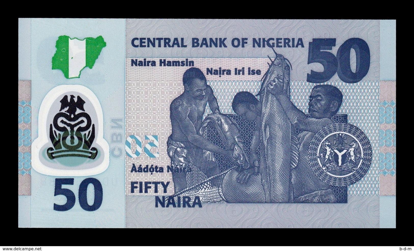 Nigeria Lot Bundle 10 Banknotes 50 Naira 2018 Pick New Polymer SC UNC - Nigeria