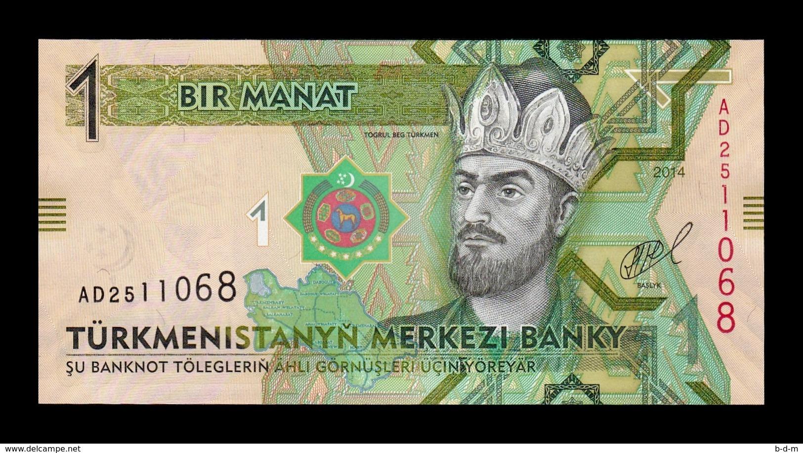 Turkmenistan Lot Bundle 10 Banknotes 1 Manat 2014 Pick 29b SC UNC - Turkmenistán