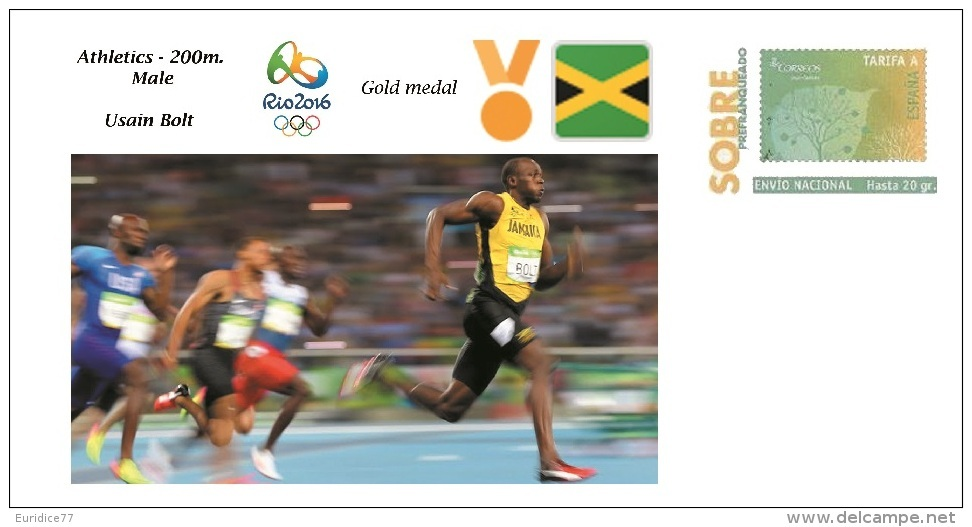 Spain 2016 - Olympic Games Rio 2016 - Gold Medal Athletics 200m Male Jamaica Cover - Juegos Olímpicos
