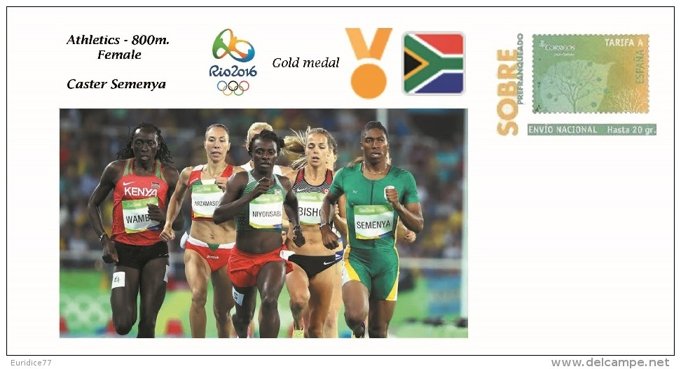 Spain 2016 - Olympic Games Rio 2016 - Gold Medal - Athletics Female South Africa Cover - Juegos Olímpicos