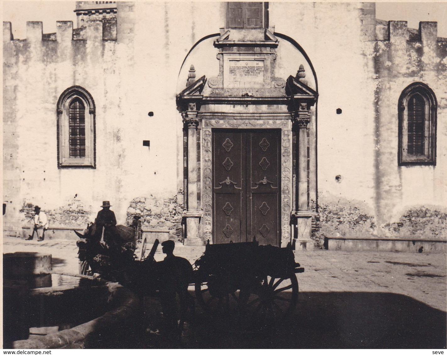 TAORMINA TAORMINE SICILE Italie  Août 1926 Photo Amateur Format Environ 6,5 Cm X 5,5 Cm - Lieux